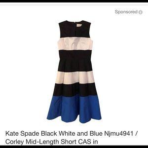 Kate spade blue and white stripes dress / size 10